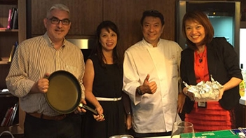 Celebrity Chef Eric Teo with distinguished PCG guests - Great Eastern Financial Advisers